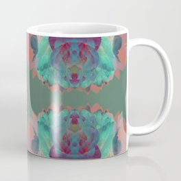 Abstract Mirrored Flower Pattern Coffee Mug