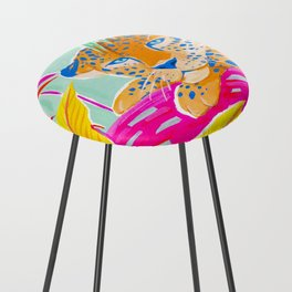 Vibrant Jungle Counter Stool