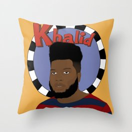 Khalid Throw Pillow
