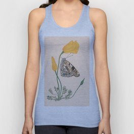 Painted Lady Butterfly Unisex Tank Top