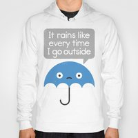 philosophy Hoodies featuring Umbrellativity by David Olenick