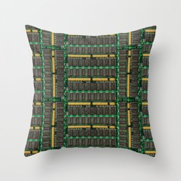 Computer memory modules background Throw Pillow
