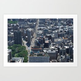 Flatiron Building NYC From Above Art Print