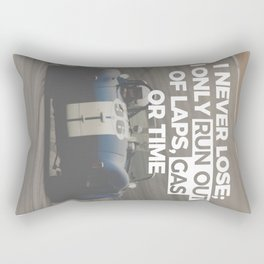 Racer Driver Out Of Laps Gas Time Never Lose Racing Rectangular Pillow
