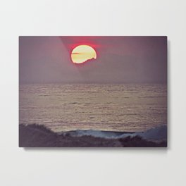 Goodnight Sun Metal Print