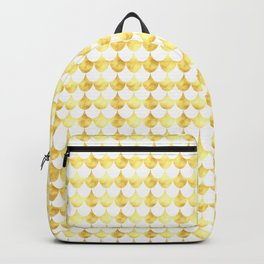 Gold Foil Fish Scales Backpack