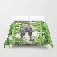 sasuke Duvet Covers featuring Sasuke by tanduksapi