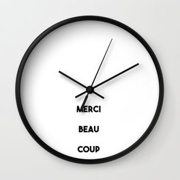Merci Beau Coup Wall Clock