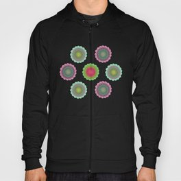 transparent floral pattern 3 Hoody