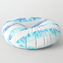Blue & Purple Watercolor Stripes Floor Pillow