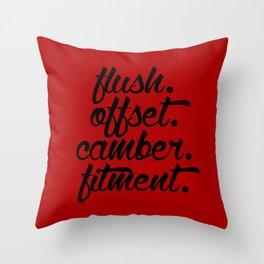 flush offset camber fitment v3 HQvector Throw Pillow