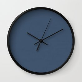 Simply Indigo Blue Wall Clock