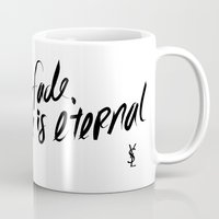 ysl Mugs featuring Style is Eternal by Megan Carty
