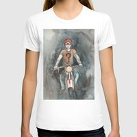 moto T-shirts featuring Moto by Bluedogrose
