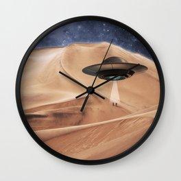 ALIEN DESERT ABDUCTION Wall Clock