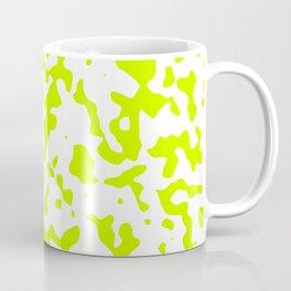 Spots - White and Fluorescent Yellow Coffee Mug
