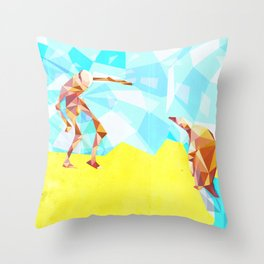 Electric Pinguin Throw Pillow