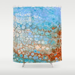 Alive - Ocean Colors Pattern Shower Curtain