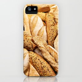 Bread baking rolls and croissants iPhone Case