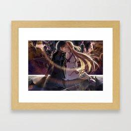 kirito's and asuna's kiss Framed Art Print