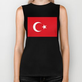 National flag of Turkey, Authentic color & scale Biker Tank