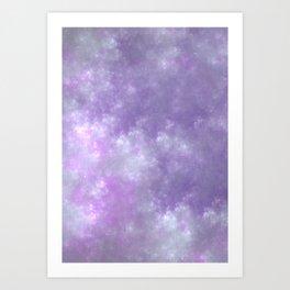 Soft Clouds - Fractal Painting Art Print