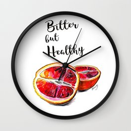 Bitter but healthy Wall Clock