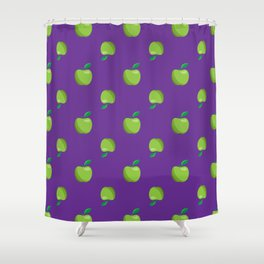 a basket of green apples pattern Shower Curtain