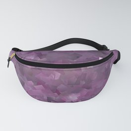 Muted Mauve In Cubes Fanny Pack