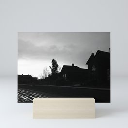 Silhouetted Stillness Mini Art Print