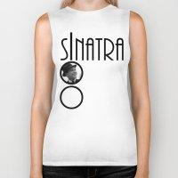 frank sinatra Biker Tanks featuring Sinatra 100th Birthday by EmeraldSora