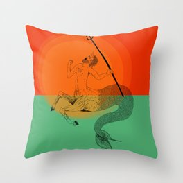 Mercentauricorn Throw Pillow