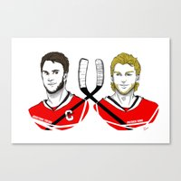 blackhawks Canvas Prints featuring Toews & Kane by Kana Aiysoublood