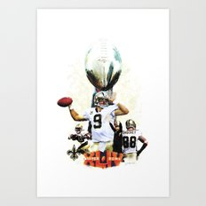 Super New Orleans Saints NFL Football Art Print
