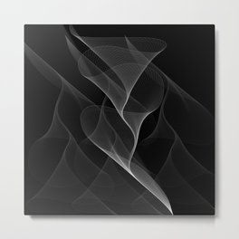 Black and White Flux #minimalist #homedecor #generativeart Metal Print