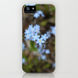 3 Forget-Me-Nots in the Center iPhone Case