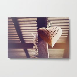 Hanging heart Metal Print