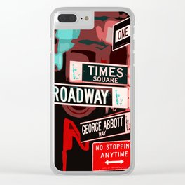Streets of New York Clear iPhone Case