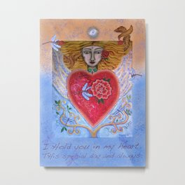 Dragonfly Heart Metal Print