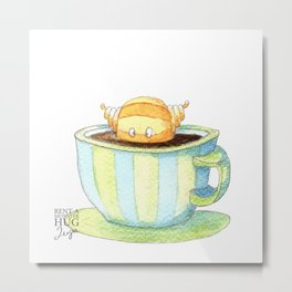 Coffee monster Metal Print