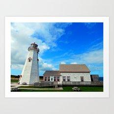 East Point PEI Lighthouse Art Print