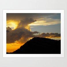 Sandia Peak Sunset Art Print