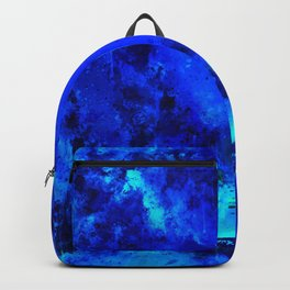 psychedelic color gradient pattern splatter watercolor blue Backpack