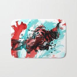 Tiger blue red 4 Bath Mat