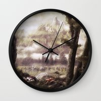 rogue Wall Clocks featuring The Rogue by Rowye