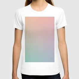 HOLOGRAPHIC - Minimal Plain Soft Mood Color Blend Prints T-shirt
