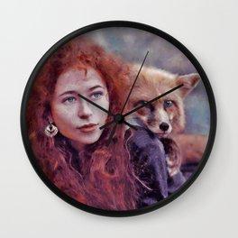 Foxy soul Wall Clock
