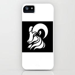 Capricorn logo motif gift design iPhone Case