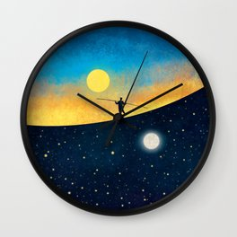 The Tightrope Walker Wall Clock