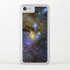 Milky way. Infinity. Scorpius and Sagittarius. Clear iPhone Case